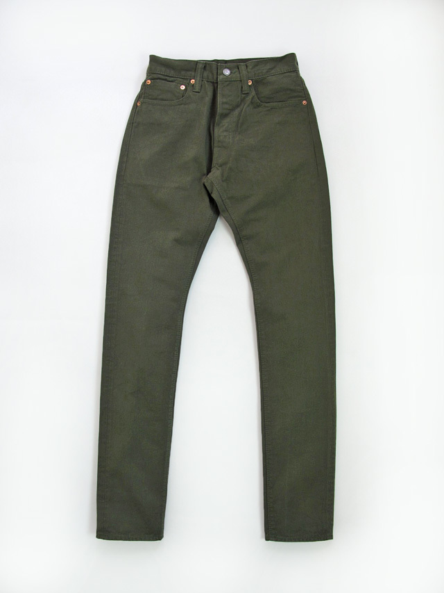 [1150] 12oz. Selvedge Chino 5-Pockets Relaxed Tapered (Olive)