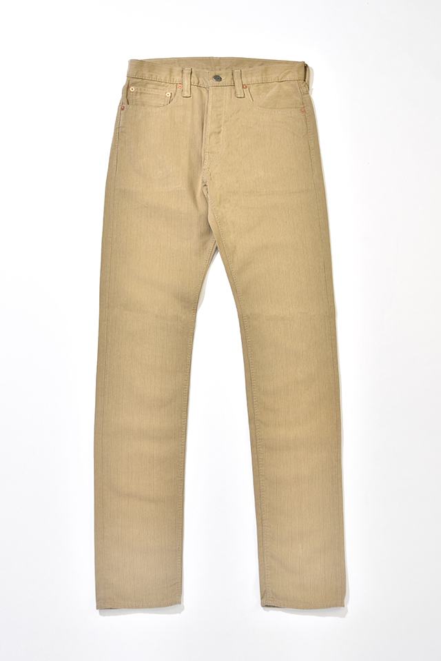 [1155 C/#1] Yarn Dyed Pique Relaxed Tapered (Beige)