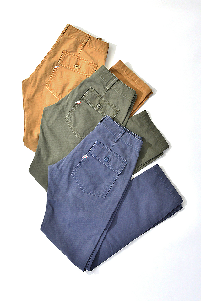 [1157] Sulfur Dyed Whipcord Military Pants