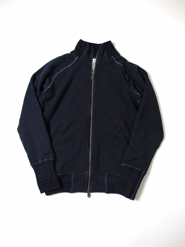 [5366] Indigo Raised Back Full-Zip Sweatshirt