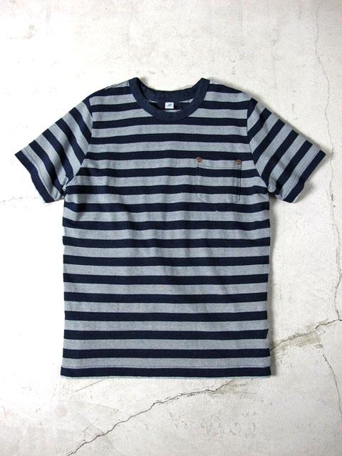 [BD-SS-5340] スラブ天竺ボーダーポケット付Tシャツ