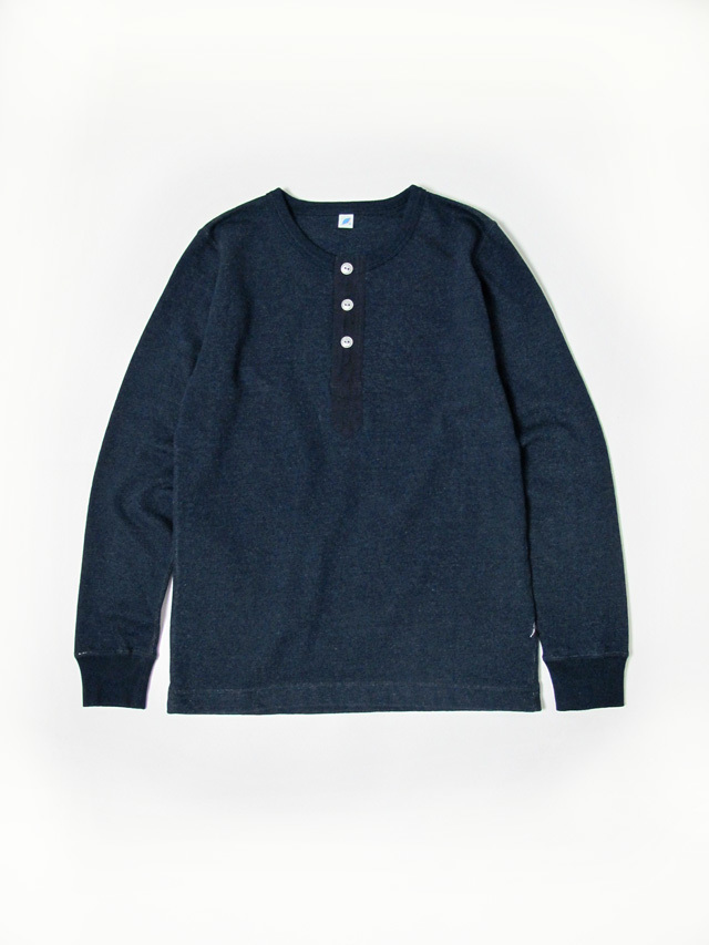 [LS-5356] Military Henley Long Sleeve Lightweight Sweatshirt