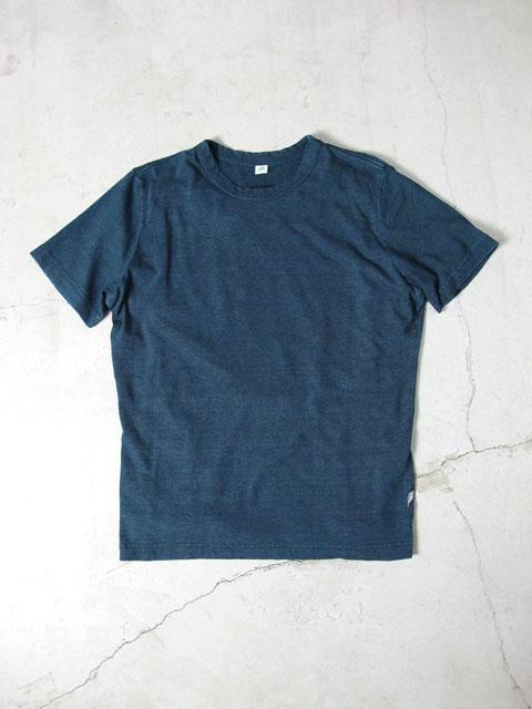 [SS5009] インディゴ無地 半袖Tシャツ/ クルーネック