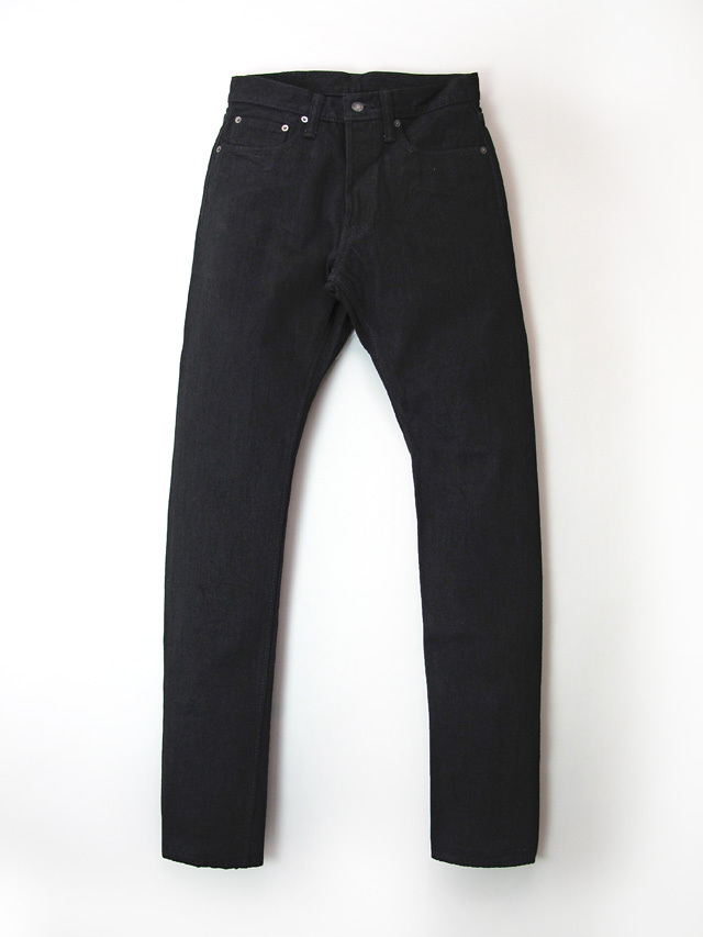 [XX-019-BB]  14oz. Double Black Relaxed Tapered