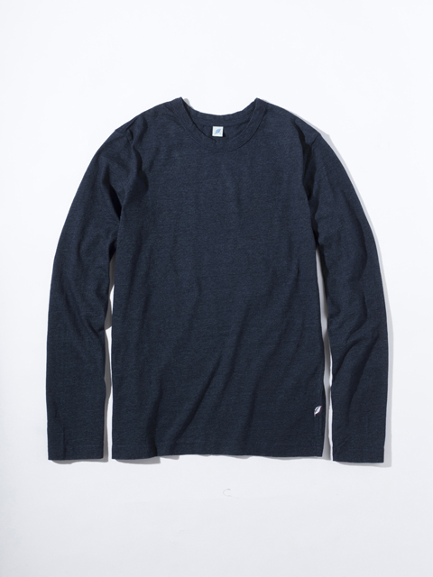 [LS5011] Indigo Jersey Crew Neck Long Sleeved T-shirt