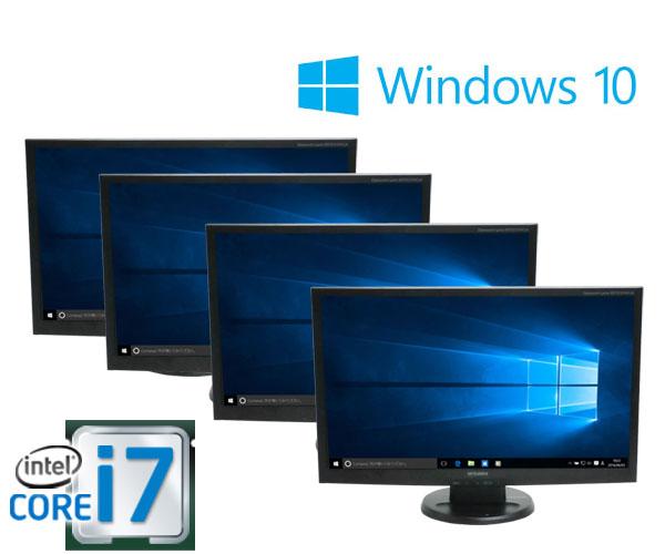 中古パソコン 23型フルHD液晶 4画面/DELL 7010SF/Core i7 3770(3.4GHz)/メモリ8GB/HDD500GB/GeforceGT710-1GB HDMI/DVDマルチ/Windows10 Home 64bit/0125M