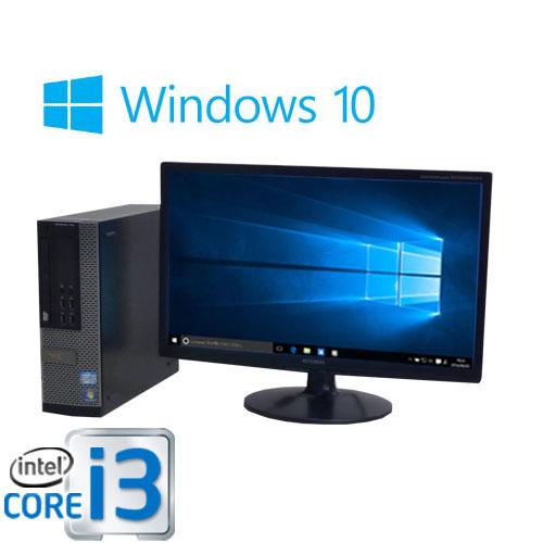 中古パソコン 22型大画面ワイド液晶/DELL 7010SF /Core i3 3220(3.3GHz)/メモリ4GB/SSD120GB(新品)+HDD320GB/DVDマルチ/Windows10Home 64bit/0367s