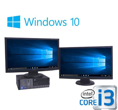中古パソコン デュアル 23型フルHD液晶/DELL 7010SF /Core i3 3220(3.3GHz)/メモリ4GB/HDD500GB/DVDマルチ/Windows10Home 64bit/0375D