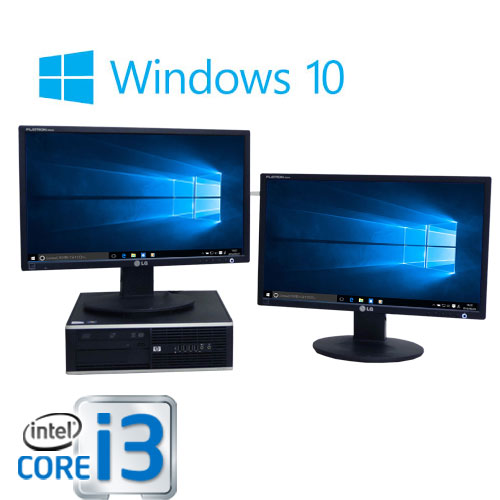 中古パソコン HP 6200Pro SF/デュアル 22型大画面/Core i3 2100(3.1GHz)/メモリ4GB/HDD500GB/DVDマルチ/Windows10 Home 64bit/0580d