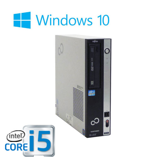 中古パソコン 富士通 FMV D751/Core i5 2400(3.1GHz)/メモリ2GB/HDD160GB/DVD-ROM/Windows10Home64bit/0703a