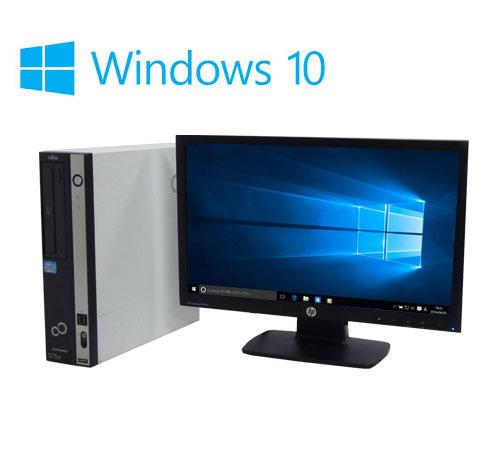 中古パソコン 20型ワイド液晶/富士通 FMV D550/ Core2Duo E8400(3Ghz)/メモリ2GB/HDD160GB/DVD/Windows10Home64bit/0738s