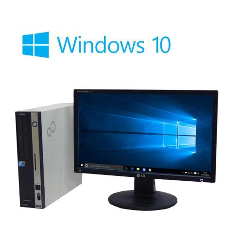 中古パソコン 22型大画面ワイド液晶/富士通 FMV D550/ Core2Duo E8400(3Ghz)/メモリ2GB/HDD160GB/DVD/Windows10Home64bit/0745s