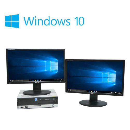 中古パソコン デュアルモニタ 22型大画面ワイド液晶/富士通 FMV D550/Core2Duo E8400(3Ghz)/メモリ4GB/HDD500GB/DVDマルチ/Windows10Home64bit/0751d
