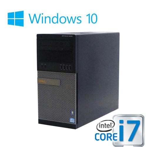 中古パソコン DELL 9020MT/Core i7 4770(3.4Ghz)/メモリ8GB/HDD1TB(新品)/DVDマルチ/Windows10 Home 64bit/0758a