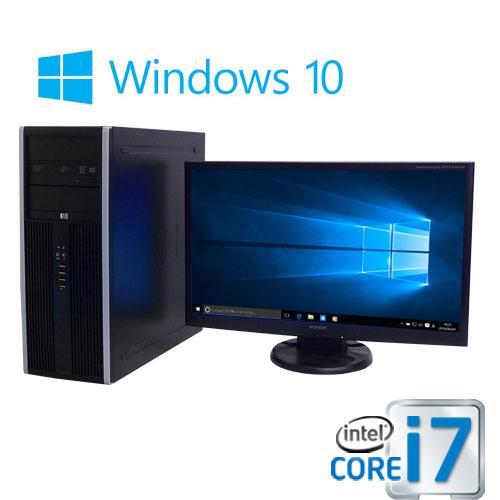 中古パソコン 大画面23型フルHD液晶/HP8300MT/Core i7 3770(3.4G)/大容量メモリ8GB/SSD240GB(新品)+HDD500GB/DVDマルチ/Windows10 Home 64bit/0947s