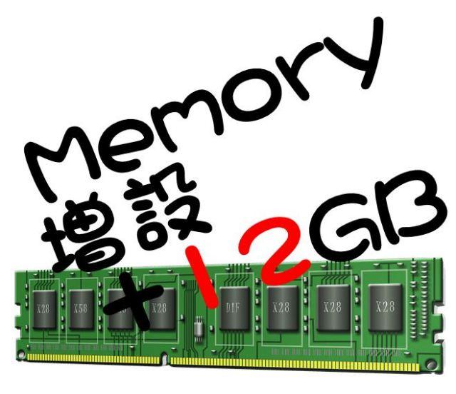 (パソコン 同時購入者様専用)(DELL/HP製Corei搭載デスクトップPC向け)メモリ 4GBモデルを16GB へアップグレードします(4to16gb-d3)