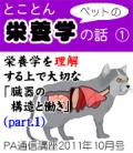 2011年10月号「とことんペットの栄養学の話〜臓器の構造と働き(その1)」