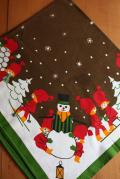 【クリスマス】北欧ヴィンテージクロス/雪だるまとニッセ達/SOLD OUT