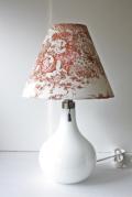 北欧照明/Holmegaard(ホルムガード)/ヴィンテージテーブルランプ/ミルクガラス