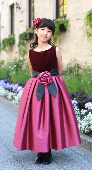 子供ドレス アンジュ 130cm 日本製子供ドレス