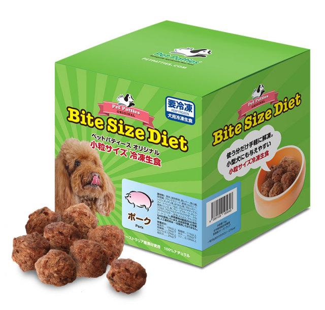 ペットパティース小粒サイズ・冷凍生食【ポーク】