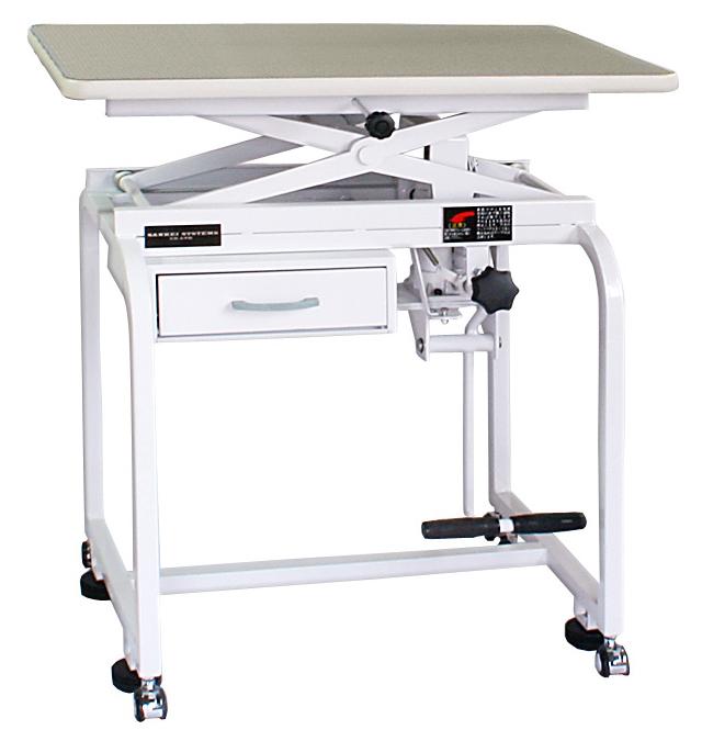 【油圧式】トリミングテーブル 油圧式 X型 750 (アーム棒なし)(引き出し付き)