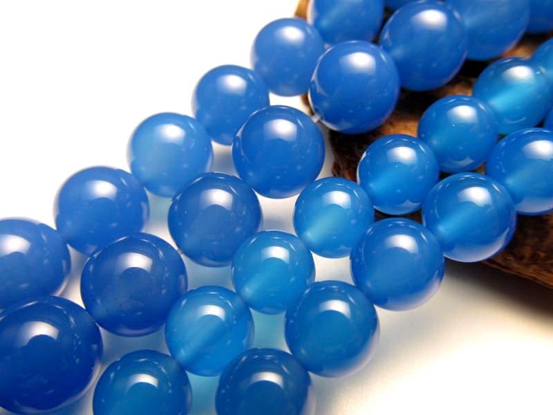 ★ブルーアゲート【青瑪瑙】★10mm珠★一連★約40cm★