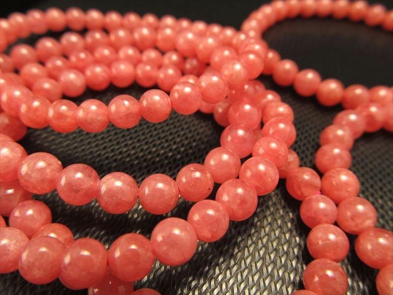 ◆発色良し!鮮やかなピンク色◆AAA+◆グラム580円◆◆上質インカローズ【ロードクロサイト】ブレスレット◆6-6.5mm×28珠前後◆