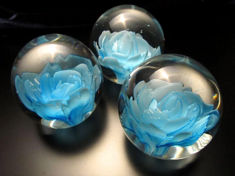 花ガラス玉