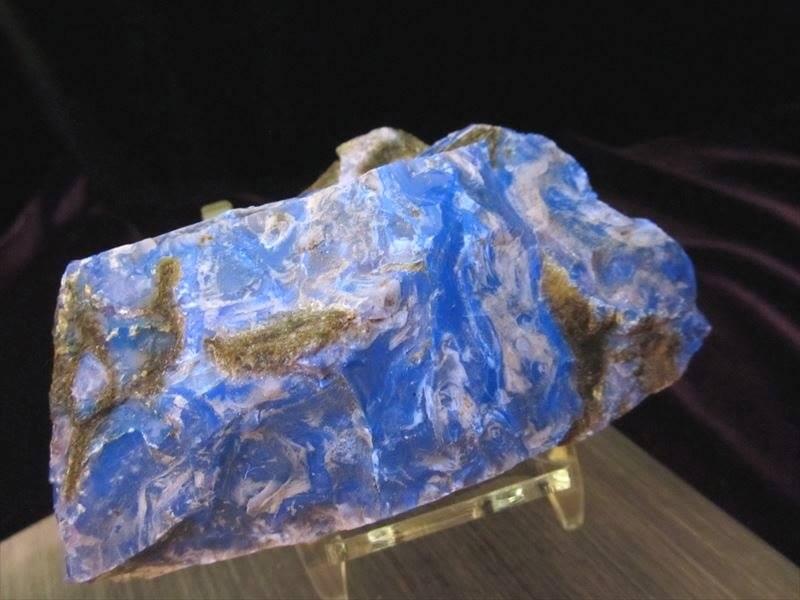 ブルーアンバー原石