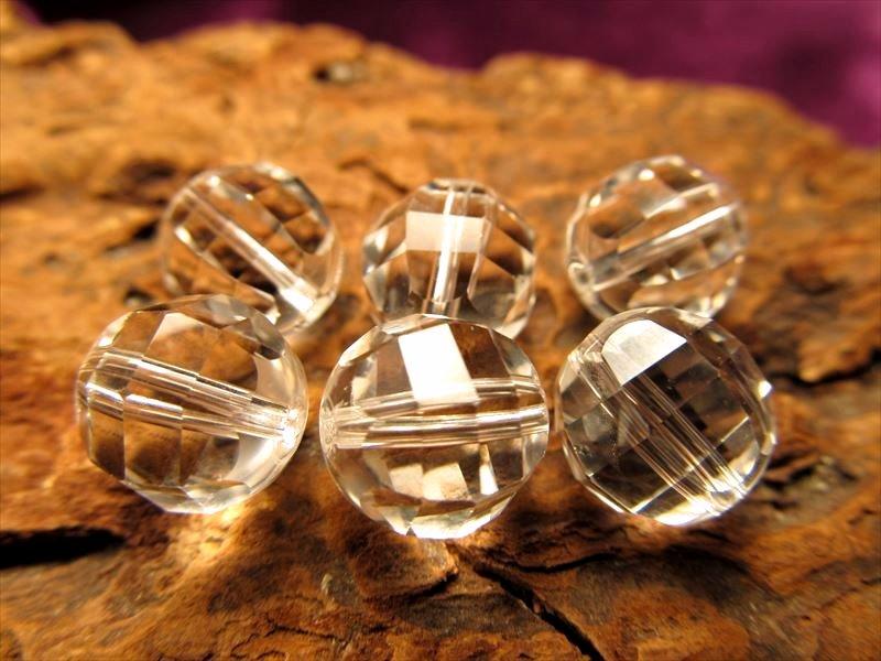 5A天然水晶ミラーラウンドカット