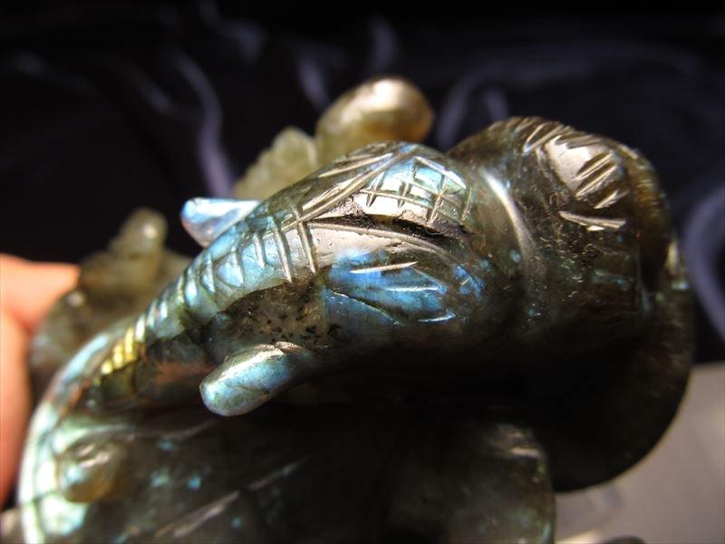ガネーシャ彫り置物