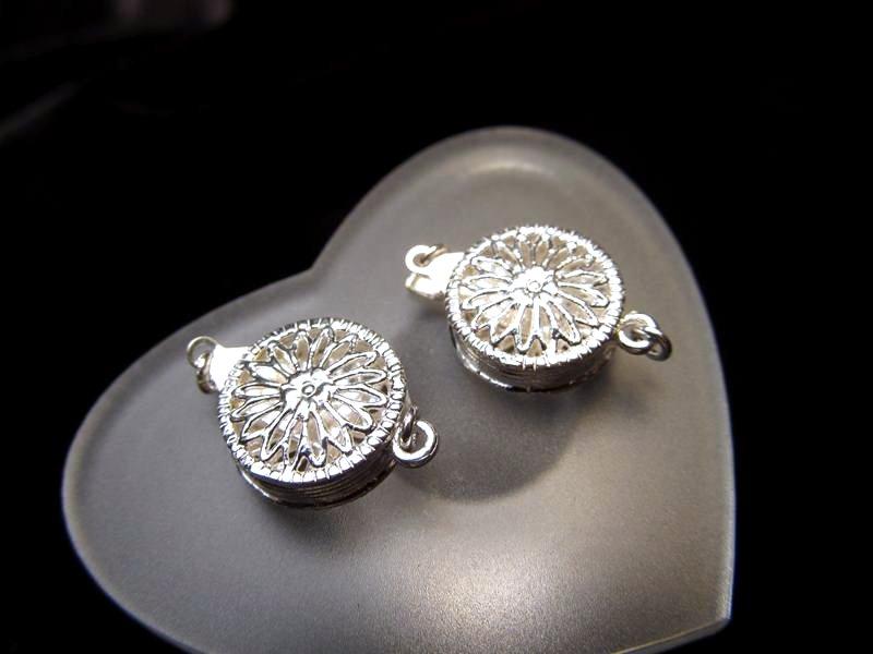 ◆高級・高品質Silver925パーツ◆約12mm◆1個1000円◆シルバー留め金具◆SS001◆