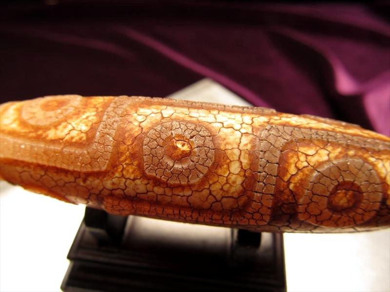 古代浮彫紋様天珠