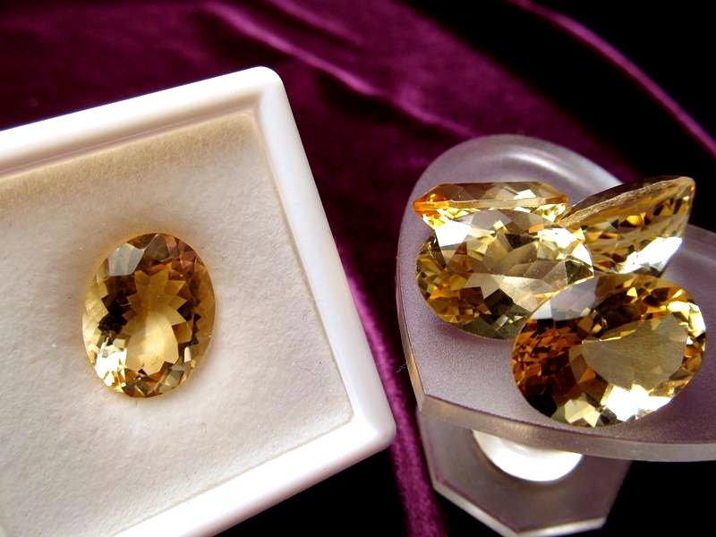 ◆5A・ジェムクォリティー◆1個4000円◆宝石質シトリン ルース【オーバルカット】◆サイズ:16×12mm 厚み7mm◆