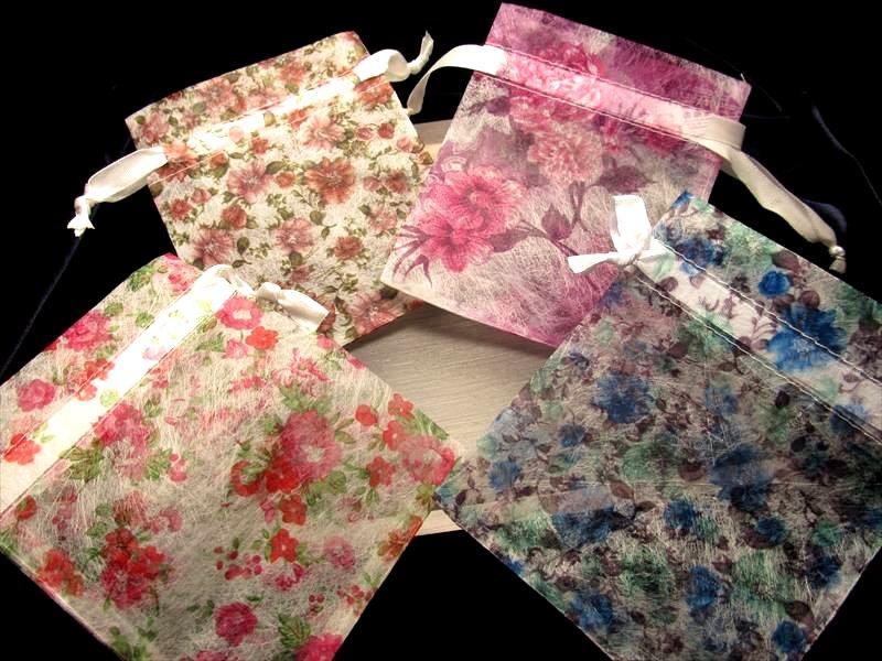 花柄ワックスペーパー袋