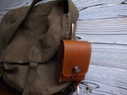 オイルヌメ革製!フック吊り下げタイプ コンパクトカメラケース