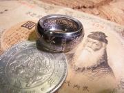 一円銀貨リング