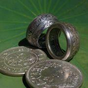 竜五十銭銀貨リング