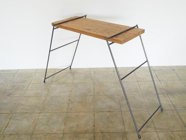 足場板とアイアンの組み立てラック|キッチン|同梱不可商品