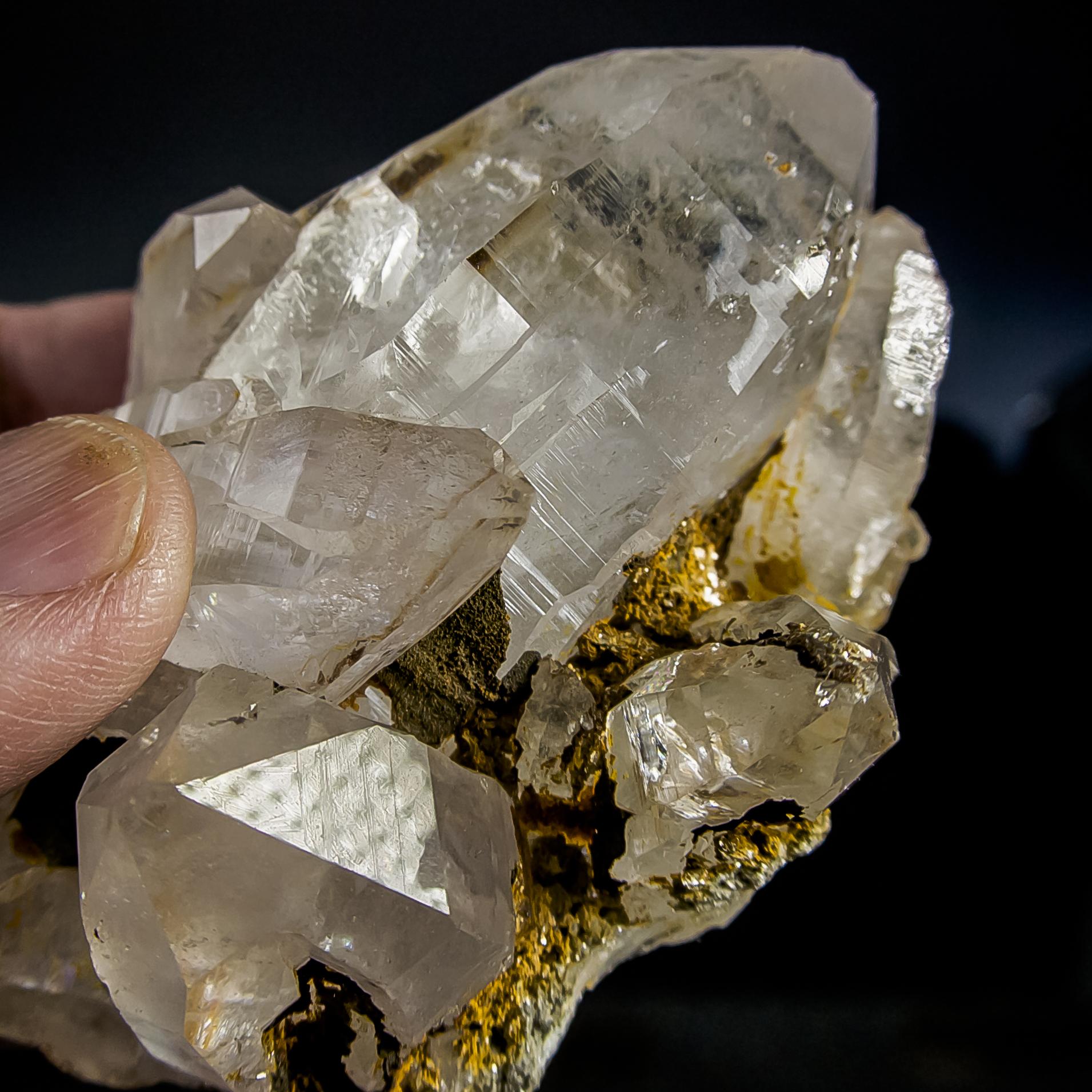 ヒマラヤ水晶 ティップリン産水晶クラスター ガネーシュヒマール レインボーhtpc-4