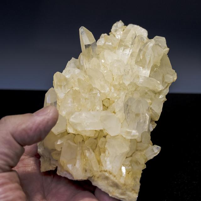 ヒマラヤ水晶 ダウラギリ産水晶クラスター ゴールデンヒーラーhdrc-1