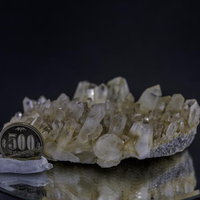 ヒマラヤ水晶 タプリジュン産水晶クラスター カンチェンジュンガ htjc-6