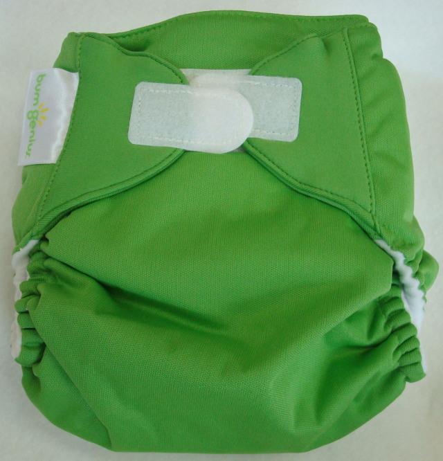 新バムジーニアス4.0 明るいみどり色 新生児からおむつ外しまで使えるかわいい布おむつ 【メール便対応】