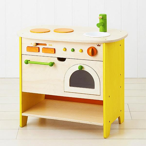 エドインター 森のアイランドキッチン カウンター型の木製ままごとキッチン