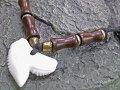 シックなボーンビーズ★イタチザメ(タイガーシャーク)歯チョーカー