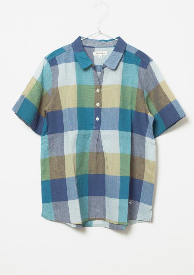 【2015春夏】カラフルブロックチェックシャツ【PE055102】【ブルーライフ】