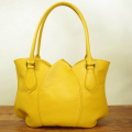 革鞄:ハンドバッグ:チューリップ