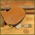 コインケース(ネコ)革小物:可愛い手作り革製品