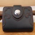 ハートの可愛いレディース革財布:ハンドメイド